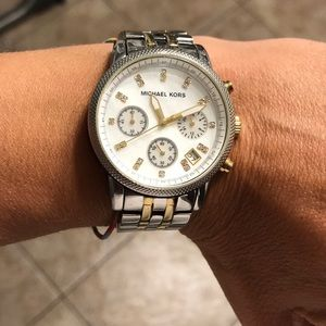 Michael Kors two tone Gold and silver watch